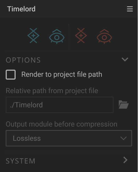 Manual export path